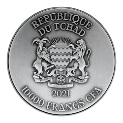 Kuguar Golden Enigma Kanada 2016  5$ 1Oz Ruthenium Goldplated Silver Coin