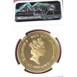 100-Lecie Wybuchu Pierwszej Wojny Światowej Niue 2014 100$ 1 Oz złoto