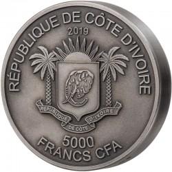 Malachite Room Masterpieces in Stone Fiji 10$ 2013 3 Oz Silver coin