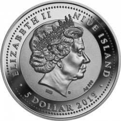 Jaszczurka Kolczasta-Moloch Straszliwy 100 Dolarów Niue 2015 1 Oz Złoto