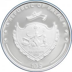 Gepardy Gabon kolor  2015 Srebro 1 Oz 2014 1000 Francs
