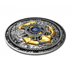 Panda Golden Enigma China 2015 10 Yuan 1oz Ruthenium Goldplated Silver Coin