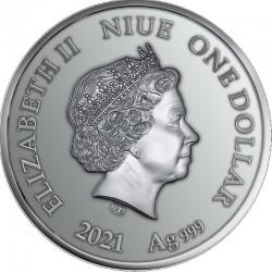 Koń Trojański Starożytne Mity 2 Oz 10 Dollars Niue 2016